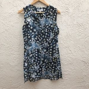 CAbi Printed Tank Top Blouse